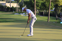 Haotong Li (CHN) takes his putt to win on the 18th green at the end of Sunday's Final Round of the 2018 Turkish Airlines Open hosted by Regnum Carya Golf &amp; Spa Resort, Antalya, Turkey. 4th November 2018.<br /> Picture: Eoin Clarke | Golffile<br /> <br /> <br /> All photos usage must carry mandatory copyright credit (&copy; Golffile | Eoin Clarke)