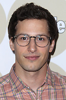 """LOS ANGELES, CA - OCTOBER 09: Actor Andy Samberg and wife Joanna Newsom arrive at People's """"ONES To Watch"""" Party held at Hinoki & The Bird on October 9, 2013 in Los Angeles, California. (Photo by Xavier Collin/Celebrity Monitor)"""