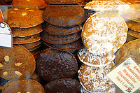 Christmas biscuits on a Christmas market stall in Nurnberg, Germany