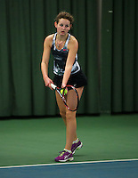 Rotterdam, The Netherlands, 15.03.2014. NOJK 14 and 18 years ,National Indoor Juniors Championships of 2014, Annelou Nab (NED)<br /> Photo:Tennisimages/Henk Koster