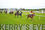 Action from the George Fitzmaurice Handicap at Listowel Races Ladies Day on Sunday.