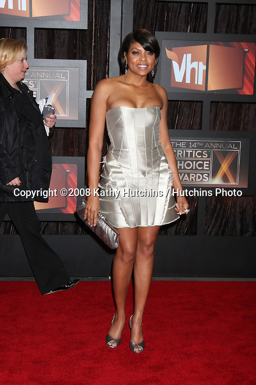 Taraji P Henson  arriving at the  Critic's Choice Awards at the Santa Monica Civic Center, in Santa Monica , CA on .January 8, 2009.©2008 Kathy Hutchins / Hutchins Photo..                .