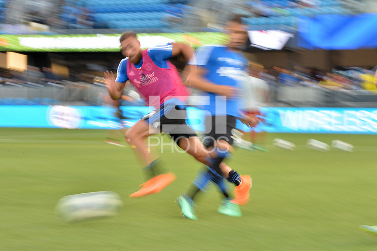 San Jose, CA - Wednesday August 29, 2018: Guram Kashia prior to a Major League Soccer (MLS) match between the San Jose Earthquakes and FC Dallas at Avaya Stadium.