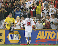 Ronaldinho #80  of A.C. Milan approaches the fans at the end of an international friendly match against D.C. United at RFK Stadium, on May 26 2010 in Washington United won 3-2.