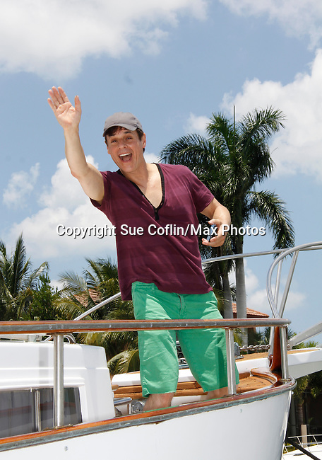 Christian LeBlanc - Actors from Y&R, Days and General Hospital donated their time to Southwest Florida 16th Annual SOAPFEST and during the weekend took a break to chill on one of the boats to see dolphins and to swim off Marco Island, Florida on May 23, 2015 - a celebrity weekend May 22 thru May 25, 2015 benefitting the Arts for Kids and children with special needs and ITC - Island Theatre Co.  (Photos by Sue Coflin/Max Photos)