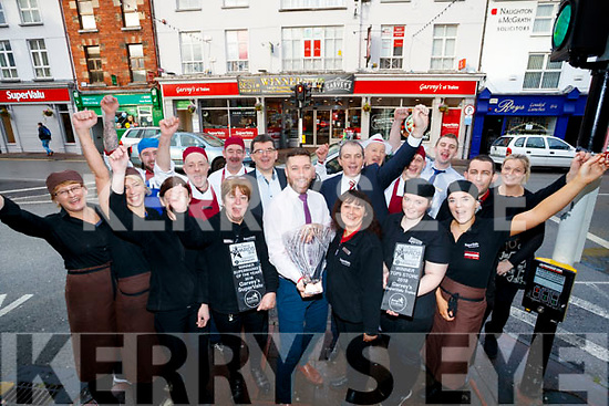 Management and Staff Garveys Tralee celebrate winning the Store of the Year at the Retail Excellence Annual Awards.