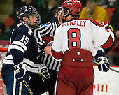 Clinton Bourbonais (Yale - 15), Patrick McNally (Harvard - 8) - The Yale University Bulldogs defeated the Harvard University Crimson 5-1 on Saturday, November 3, 2012, at Bright Hockey Center in Boston, Massachusetts.