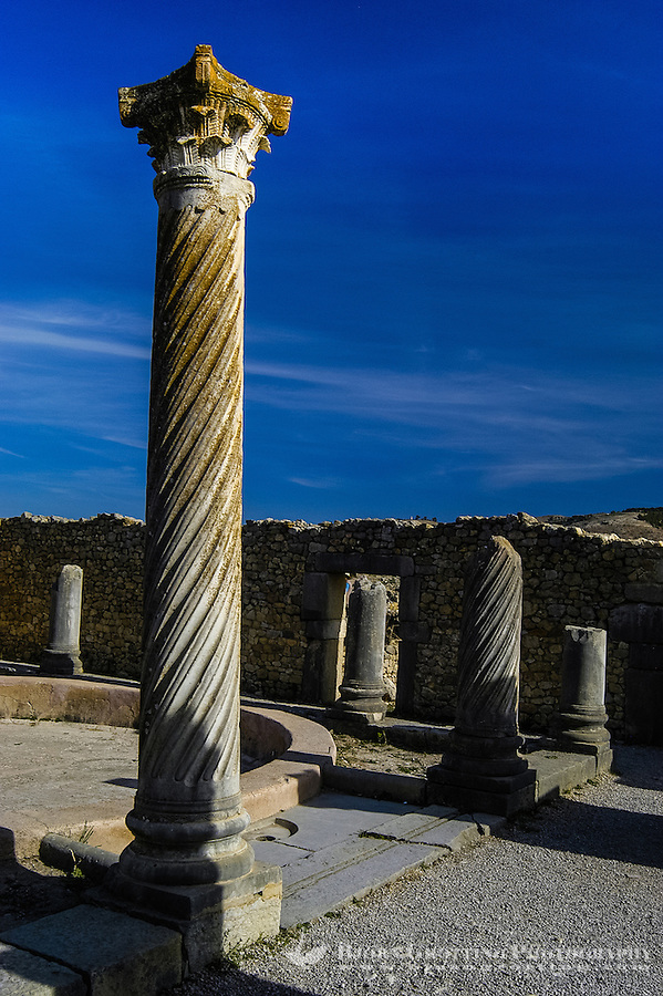 Volubilis is an archaeological roman site in Morocco situated near Moulay Idriss.