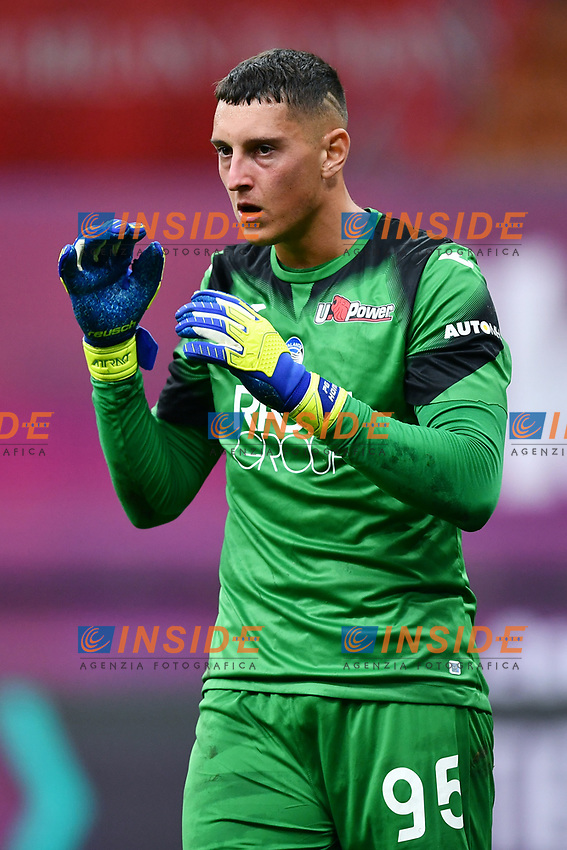 Pierluigi Gollini of Atalanta BC during the Serie A football match between AC Milan and Atalanta BC at stadio Giuseppe Meazza in Milano ( Italy ), July 24th, 2020. Play resumes behind closed doors following the outbreak of the coronavirus disease. <br /> Photo Image Sport / Insidefoto