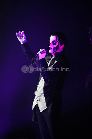LONDON, ENGLAND - MARCH 26: Papa Emeritus III of 'Ghost' performing at The Forum on March 26, 2017 in London, England.<br /> CAP/MAR<br /> &copy;MAR/Capital Pictures /MediaPunch ***NORTH AND SOUTH AMERICAS ONLY***