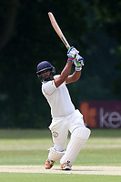 N Gabhawala hits four runs for Ilford during Wanstead and Snaresbrook CC vs Ilford CC, Shepherd Neame Essex League Cricket at Overton Drive on 17th June 2017