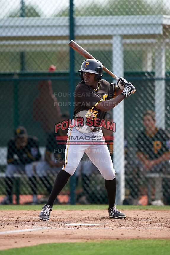 Pittsburgh Pirates Eric Thomas (65) during a minor league Spring Training intrasquad game on April 3, 2016 at Pirate City in Bradenton, Florida.  (Mike Janes/Four Seam Images)