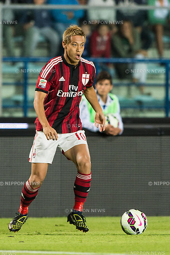 "Keisuke Honda (Milan), SEPTEMBER 23, 2014 - Football / Soccer : Italian ""Serie A"" match between Empoli FC 2-2 AC Milan at Stadio Carlo Castellani in Empoli, Italy. (Photo by Enrico Calderoni/AFLO SPORT)"