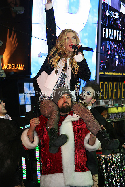 WWW.ACEPIXS.COM . . . . .  ....December 31 2010, New York City....Singer Ke$ha performs for New Year's Eve 2011 in Times Square on December 31, 2010 in New York City.....Please byline: NANCY RIVERA- ACE PICTURES.... *** ***..Ace Pictures, Inc:  ..tel: (212) 243 8787 or (646) 769 0430..e-mail: info@acepixs.com..web: http://www.acepixs.com