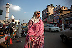 23 August 2011, Rawalpindi, Pakistan: Amina Massod Janjua, 47, Chairperson of 'Defense of Human Rights, Pakistan' on the streets of Rawalpindi outside of Islamabad. Her husband, Massod, went missing from a bus to Peshawar in 2006, believed to be detained by Pakistani security agencies. Amina has since worked tirelessly in the hope of having him freed but has no idea whether he is even still alive. Picture by Graham Crouch for The Australian Magazine.