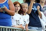 20 August 2014: U.S. fans. The United States Women's National Team played the Switzerland Women's National Team at WakeMed Stadium in Cary, North Carolina in an women's international friendly soccer game. The United States won the match 4-1.