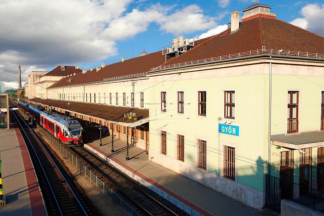 Railway station - ( Gy?r )  Gyor Hungary