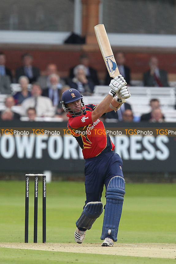Mark Pettini in batting action for Essex - Middlesex Panthers vs Essex Eagles - Clydesdale Bank 40 Cricket at Lords Ground, St Johns Wood, London - 27/08/12 - MANDATORY CREDIT: Gavin Ellis/TGSPHOTO - Self billing applies where appropriate - 0845 094 6026 - contact@tgsphoto.co.uk - NO UNPAID USE.