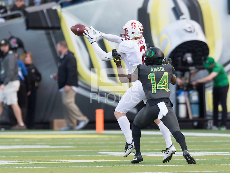Eugene, OR - November 12, 2016: The Stanford Cardinal vs the Oregon Ducks at Autzen Stadium. Final score Stanford 52, Oregon Ducks 27.