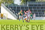 Gearoid O Leidhinn OS Chorcha Dhuibhne and Darragh Lyne St Brendans in action during the Corn Uí Mhuiri on Saturday
