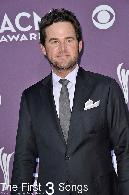 David Nail attends the 47th Annual Academy of Country Music Awards in Las Vegas, Nevada on April 1, 2012.