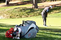 December 2, 2011: Tiger Woods and his new bag during the second round of the Chevron World Challenge held at Sherwood Country Club, Thousand Oaks, CA.