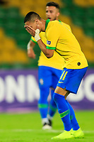 ARMENIA, COLOMBIA - JANUARY 19: Brazil's Antony reacts after missing a shoot during their CONMEBOL Pre-Olympic soccer game against Peru at Centenario Stadium on January 19, 2020 in Armenia, Colombia. (Photo by Daniel Munoz/VIEW press/Getty Images)
