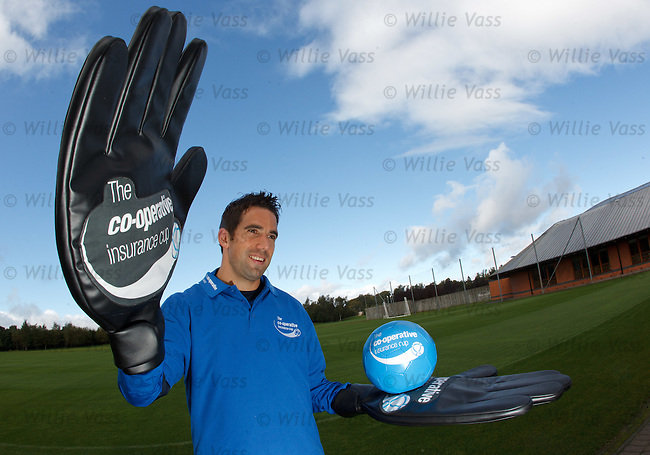 Neil Alexander in top form as he looks forwards to being in goals at Ibrox tomorrow night for the Co-Operative Cup match