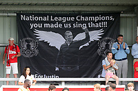 A flag tribute to former Leyton Orient manager Justin Edinburgh during Harlow Town vs Leyton Orient, Friendly Match Football at The Harlow Arena on 6th July 2019