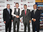 27/10/2015   With Compliments.  Attending the GAA High Performance Scholarships 2015-2016 in the Castletroy Park Hotel were Prof Don Barry, President, UL, Gold Standard Recipient Niall McDermott, Ballinagh, Cavan a 2nd Year PE  student, Ulster U21 Football Championship 2011, Cavan Senior Football Player, Cavan Senior Football Championship 2013 and Cavan and Ulster Club Intermediate Football Champions 2007, Liam Sheedy, Area Manager Midwest Region, Bank of Ireland and Dave Mahedy, Director of Sport, UL. Photograph: Liam Burke/Press 22