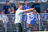 Trainer Dimitrios Grammozis (SV Darmstadt 98) regt sich auf - 15.09.2019: SV Darmstadt 98 vs. 1. FC Nürnberg, Stadion am Boellenfalltor, 6. Spieltag 2. Bundesliga<br /> DISCLAIMER: <br /> DFL regulations prohibit any use of photographs as image sequences and/or quasi-video.