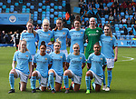 Manchester City Women's team group during the Women's Champions League, Semi Final 1st leg match at the Academy Stadium, Manchester. Picture date 22nd April 2018. Picture credit should read: Simon Bellis/Sportimage