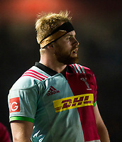 Harlequins' James Chisholm<br /> <br /> Photographer Bob Bradford/CameraSport<br /> <br /> European Rugby Challenge Cup - Harlequins v Wasps - Sunday 13th January 2018 - Twickenham Stoop - London<br /> <br /> World Copyright &copy; 2018 CameraSport. All rights reserved. 43 Linden Ave. Countesthorpe. Leicester. England. LE8 5PG - Tel: +44 (0) 116 277 4147 - admin@camerasport.com - www.camerasport.com