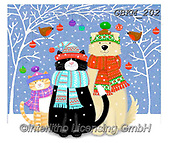 Kate, CHRISTMAS ANIMALS, WEIHNACHTEN TIERE, NAVIDAD ANIMALES, paintings+++++Christmas page 73 1,GBKM202,#xa# ,dog,dogs
