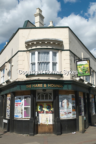 Pub closed down south London UK. The Hare and Hound public house.