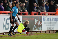 Ms Lisa Rashid the 4th official is called into action during Stevenage vs Bury, Sky Bet EFL League 2 Football at the Lamex Stadium on 9th March 2019