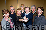 Killarney Strictly Come Dancing is back for 2015 in aid of the Irish Cancer Society at the launch on Tuesday night at the INEC were l-r: Kathleen O'Shea, Eugene O'Sullivan, Kathleen Cronin, Caitriona Breen, Joe Burchill, Tim Moriarty and Ellen O'Doherty