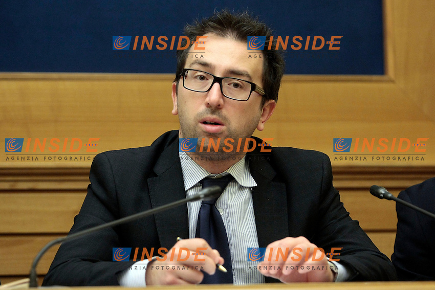 Alfonso Bonafede M5S<br /> Roma 05-02-2014 Sala Stampa Camera. Conferenza stampa del Movimento 5 Stelle.<br /> Press conference of 5 Stars Movement<br /> Photo Samantha Zucchi Insidefoto