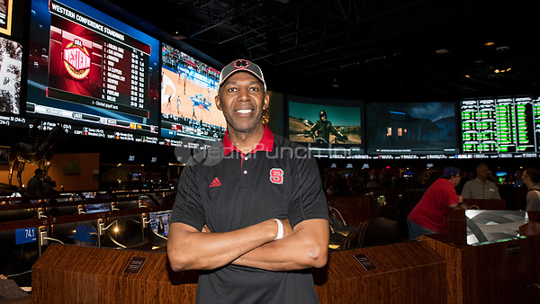LAS VEGAS, NV - March 16, 2017: ***HOUSE COVERAGE*** Former NBA Player Thurl Bailey pictured at the world's largest Race and Sports SuperBook at Westgate Las Vegas Resort & Casino in Las vegas, NV on March 16, 2017. Credit: Erik Kabik Photography/ MediaPunch