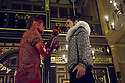 London, UK. 25.10.2014. 'TIS PITY SHE'S A WHORE, by John Ford, opens at the Sam Wanamaker Playhouse, at Shakespeare's Globe. Picture shows: Max Bennett (Giovanni) and Stefano Braschi (Soranzo). Photograph © Jane Hobson.