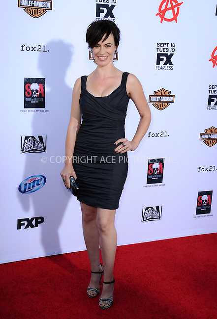 WWW.ACEPIXS.COM<br /> <br /> September 7 2013, LA<br /> <br /> Maggie Siff arriving at the 'Sons Of Anarchy' Season 6 premiere screening at Dolby Theatre on September 7, 2013 in Hollywood, California. <br /> <br /> <br /> By Line: Peter West/ACE Pictures<br /> <br /> <br /> ACE Pictures, Inc.<br /> tel: 646 769 0430<br /> Email: info@acepixs.com<br /> www.acepixs.com