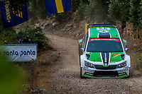 KOPECKY Jan / DRESLER Pavel ( SKODA Fabia R5) during the World Rally Car RACC Catalunya Costa Dourada 2016 / Rally Spain, in Catalunya, Spain. October 15, 2016. (ALTERPHOTOS/Rodrigo Jimenez) NORTEPHOTO.COM