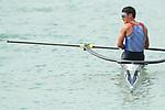 Ryuta Arakawa (JPN), <br /> AUGUST 23, 2018 - Rowing : <br /> Men's Single Sculls Final <br /> at Jakabaring Sport Center Lake <br /> during the 2018 Jakarta Palembang Asian Games <br /> in Palembang, Indonesia. <br /> (Photo by Yohei Osada/AFLO SPORT)