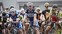 Niki Terpstra (NLD/Etixx-QuickStep), Tom Boonen (BEL/Etixx-QuickStep) & Filippo Pozzato (ITA/Wilier-Southeast) lined up for the start<br /> <br /> 1st Dwars door het Hageland 2016<br /> (pics by Léon Van Bon)