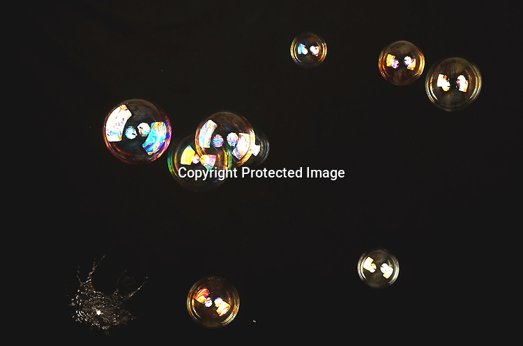 Stock photo of psychedelic bubbles