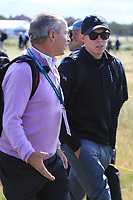 Joey Purcell and Matthew Fitzpatrick on the 17th during the Foursomes at the Walker Cup, Royal Liverpool Golf CLub, Hoylake, Cheshire, England. 07/09/2019.<br /> Picture Thos Caffrey / Golffile.ie<br /> <br /> All photo usage must carry mandatory copyright credit (© Golffile | Thos Caffrey)