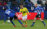 Blackburn Rovers' Harrison Reed gets between Sheffield Wednesday's Michael Hector &amp; Barry Bannan<br /> <br /> Photographer David Shipman/CameraSport<br /> <br /> The EFL Sky Bet Championship - Sheffield Wednesday v Blackburn Rovers - Saturday 16th March 2019 - Hillsborough - Sheffield<br /> <br /> World Copyright &copy; 2019 CameraSport. All rights reserved. 43 Linden Ave. Countesthorpe. Leicester. England. LE8 5PG - Tel: +44 (0) 116 277 4147 - admin@camerasport.com - www.camerasport.com