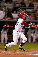Auburn Doubledays infielder Mills Rogers #30 during game two of the semi-final round of the NY-Penn League Playoff series against the Vermont Lake Monstes at Falcon Park on September 8, 2011 in Auburn, New York.  Auburn defeated Vermont 3-2.  (Mike Janes/Four Seam Images)