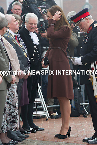 "CATHERINE, DUCHESS OF CAMBRIDGE .visited The National Fishing Heritage Centre, Humberside Fire and Rescue Service and Havelock Academy in Grimsby, Lincolnshire _05/03/2013.It was a first visit to a programme run by the Prince's Trust by the Duchess who is 5 months pregnant..Mandatory credit photo:©Dias/NEWSPIX INTERNATIONAL..**ALL FEES PAYABLE TO: ""NEWSPIX INTERNATIONAL""**..PHOTO CREDIT MANDATORY!!: NEWSPIX INTERNATIONAL(Failure to credit will incur a surcharge of 100% of reproduction fees)..IMMEDIATE CONFIRMATION OF USAGE REQUIRED:.Newspix International, 31 Chinnery Hill, Bishop's Stortford, ENGLAND CM23 3PS.Tel:+441279 324672  ; Fax: +441279656877.Mobile:  0777568 1153.e-mail: info@newspixinternational.co.uk"