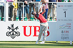 Sébastien Gros of France tees off the first hole during the 58th UBS Hong Kong Golf Open as part of the European Tour on 10 December 2016, at the Hong Kong Golf Club, Fanling, Hong Kong, China. Photo by Marcio Rodrigo Machado / Power Sport Images